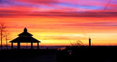December Sunset at Grand Bend Shelters, December, Shades, Celestial, Explore, Sunset, Outdoor, Outdoors, Animal Shelters