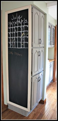 Kitchen Chalkboard...... We could do this!!