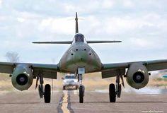 "The Messerschmitt Me nicknamed Schwalbe (German: ""Swallow"") in fighter versions, or Sturmvogel (German: ""Storm Bird"") in fighter-bomber versions, was th. Aircraft Photos, Ww2 Aircraft, Fighter Aircraft, Military Aircraft, Fighter Jets, Messerschmitt Me 262, Me262, Ww2 Planes, Jet Engine"