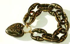 Victorian Tortoise Shell Heart Bracelet