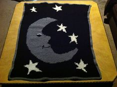 Ravelry: KohniK's Moon and Stars Baby Blanket