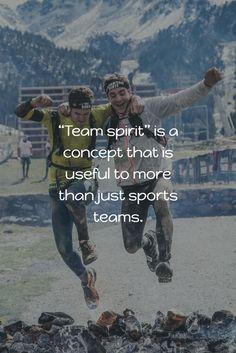 The Value of Team Spirit Big News, Spirit, Concept, American