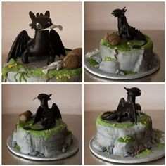 Toothless Dragon Cake How to Train Your Dragon Toothless Fire Toothless Dragon Birthday Cake Toothless Dragon Birthday Cake Toothless Cake Dragon Birthday, Dragon Party, Fondant Cakes, Cupcake Cakes, Toothless Cake, Toothless Party, Dragon Cakes, Disney Cakes, How Train Your Dragon