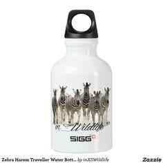 Shop Zebra Harem Traveller Water Bottle created by inXSWildlife.