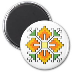 Shop Magnet Bulgarian folk motif shevitsa orange created by FioShop. Cross Stitch Embroidery, Cross Stitch Patterns, Food Art For Kids, Simple Cross Stitch, Animal Skulls, Paper Cover, Bulgarian, Gifts For Dad, Pink And Green