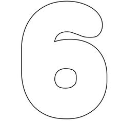 It's As Easy As 1-2-3 To Use Our Free Printable Numbers Digital Stamps: Free Printable Number 6