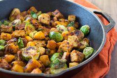 Tempeh Hash | The Foodie Dietitian @karalydon -- replace the pumpkin ...