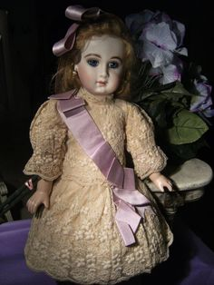 Real fabulous antique French dress for a Bru Steiner F.G.,Jumeau doll from treasuresfromparis on Ruby Lane