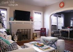Happy Wife Living Life : Living Room Tour