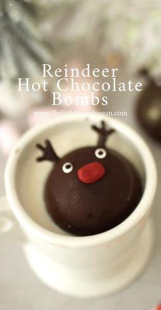 Chocolate Navidad, Reindeer Hot Chocolate, Hot Chocolate Gifts, Christmas Hot Chocolate, Homemade Hot Chocolate, Hot Chocolate Bars, Hot Chocolate Mix, Hot Chocolate Recipes, Cocoa Recipes