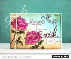 Penny Black Post Card, Efflorescence card by Jill Foster