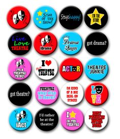 Heart TO ACT 25mm Pin Button Badge The Arts Stage Acting Theatre Drama I Love