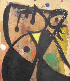 Joan Miro, Femme, 1977-78, huile sur toile, 71 x 61 cm