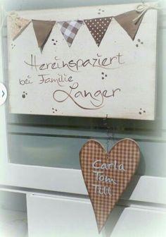 Türschild für die Wohnungstausch mit Wimpeln und Herz....alles individuell für euch gemacht