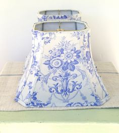 French Lamp Shade Lampshade Periwinkle Vintage by lampshadelady