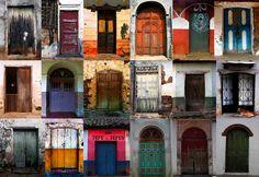 Puertas de Suchitoto. Foto y Collage: Luis Galdamez (talentoso fotografo salvadoreno)