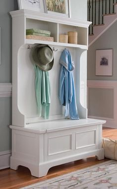 Home Styles Naples Hall Tree with Storage Shelves - $429.00