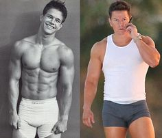 Mark Wahlberg, then and now <3 DAMMIT BOY!!!!!!!