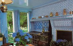 Giverny, Monets Haus, Küche (Monet's House, kitchen) by HEN-Magonza, via Flickr