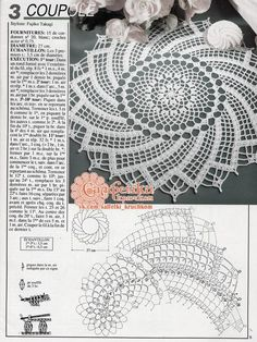 patterns and motifs crocheted motif Filet Crochet, Crochet Doily Diagram, Crochet Doily Patterns, Crochet Art, Crochet Round, Crochet Home, Thread Crochet, Irish Crochet, Crochet Table Runner