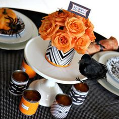 Adorable centro de mesa inspirado en Halloween :: Adorable Halloween inspired Centerpiece