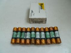 You are buying 10 Buss Fuses NON-20 One Time Cooper Bussman. This item comes as seen in the pictures. If you have any questions please feel free to contact us.
