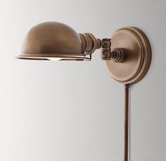 Academy Task Sconce Antique Brass