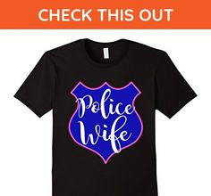Mens Police Officer Wife Police Wife Badge Apparel Medium Black - Careers professions shirts (*Amazon Partner-Link)