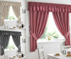 Polyester Kitchen Country Curtains & Blinds for sale Modern Kitchen Curtains, Country Kitchen Curtains, Modern Window Design, Curtains Ready Made, Modern Country Kitchens, Pelmets, Curtains With Blinds, Seat Pads, Küchen Design