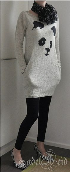 Modification Monday: Still Panda | knittedbliss.com. For adult but size down for A                                                                                                                                                                                 More