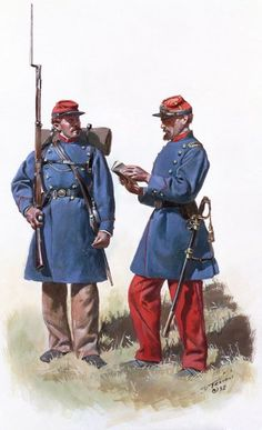Union; 55th New York Volunteers, Lafayette Guard by Don Troiani