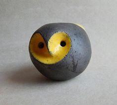 Owl-whistle bird-whistle ocarina ethnica folklore yellow