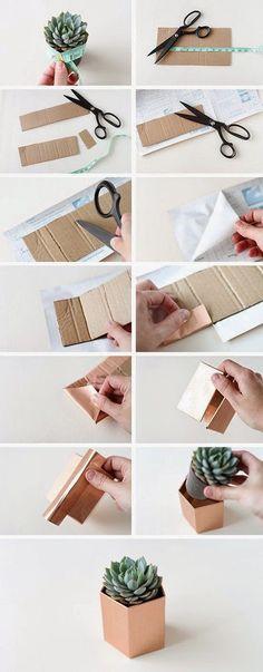 Handmade Gifts Ideas diy metallic geometric planters -Read More – Diy Projects To Try, Craft Projects, Ideias Diy, Deco Floral, Diy Room Decor, Diy And Crafts, Easy Diy, Diys, Diy Design