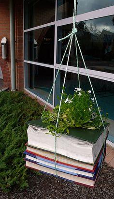Hanging Book Planter