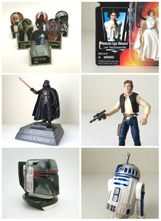 From vintage toys and action figures to PEZ dispensers, cards and puzzles, Half Pint Salvage is your intergalactic headquarters for everything Star Wars. All of your favorite characters are there: Princess Leia, Han Solo, Luke Skywalker, Chewbacca, R2-D2, C-3PO, Yoda, Boba Fett, Darth Vader and more! Shop the complete collection of Star Wars gifts in our Etsy shop today. May the gifting Force be with you...