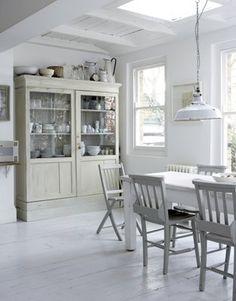 Decoración Estilo rústico y color blanco en decoración de interiores