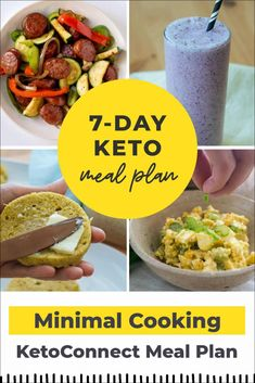 The Best Keto Meal Plan (Little to NO Cooking!) - KetoConnect Best Keto Meals, No Cook Meals, Diet Meals, Ketogenic Diet Meal Plan, Keto Meal Plan, Meal Prep Cookbook, Family Meal Planning, Cooking Salmon, Nutritious Meals
