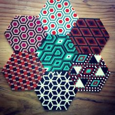 Hama perler bead coasters by replayt by Nannagirl