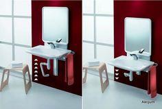 Podnośnik elektryczny umywalki zintegrowany z lustrem. Pozwala na zainstalowanie umywalki do 70cm szerokości. Dzieki zastosowaniu mechanizmu pozwala na regulacje posadowienia umywalki