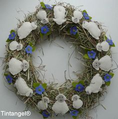 Corona de ovejas kit de bricolaje sin corona de paja por Tintangel