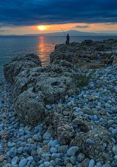 Sunset fishing, Messinia, Greece