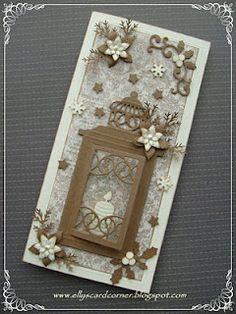 Elly's Card- Corner: Christmas lantern card.