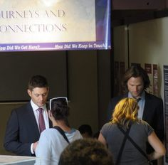 Jensen and Jared on set  Credit @Kelly_Brown25 on Twitter