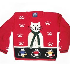 Wonde if hubey would add this to her collection of Xmas sweaters !!
