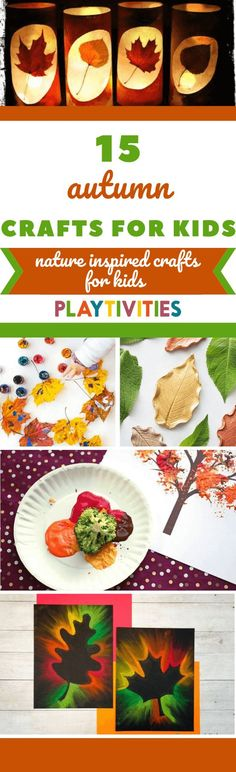 I gathered 15 amazing autumn crafts for kids! Easy, low-prep and relaxing activities for kids that are made by colorful and beautiful autumn goods. #autumncraftsforkids #autumncrafts #natureinspiredcrafts #coolideasforkids #diyideasforkids #funactivitiesforkids #natureinspiredactivitiesforkids #outdooractivities
