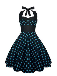 The sensational Rockabilly Dress Pin Up Dress Black Polka Dot Plus Size Dress Vintage 50s Retro Gothic Clothing Lolita Steampunk…