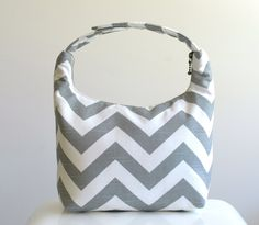 Insulated Lunch Bag Lunch Bag For Women  Chevron by LeLaStudio, $28.00