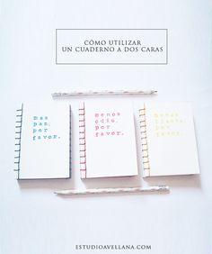 Cómo utilizar un cuaderno a dos caras #papeleria #handmade #artesanal #planning