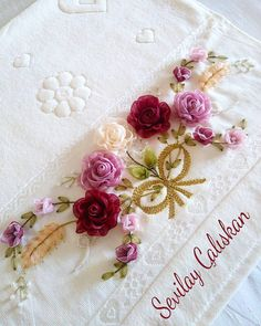 Silk Ribbon Embroidery, Embroidery Stitches, Romantic Cottage, Ribbon Work, Ribbon Crafts, Handmade Baby, Needlepoint, Diy And Crafts, Projects To Try