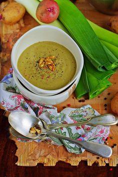 Cream Soup With Leeks and Potatoes (polish recipe)